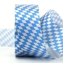 Vereinsband Bayernraute, blau-weiß, 40 mm - vereinsband