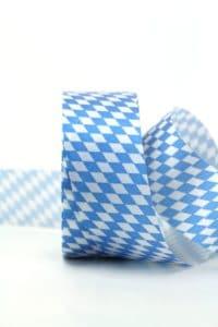 Dekoband Bayernraute - weiss-blau 40mm (500-40-900)