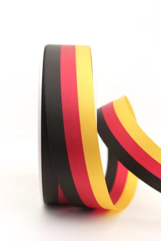 Nationalband Deutschland, schwarz-rot-gold, 25 mm - nationalband