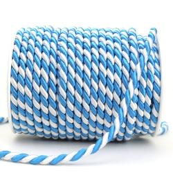 Zierkordel blau-weiß - kordel