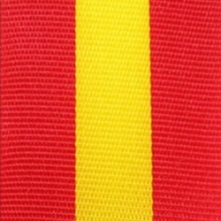 Nationalband Spanien, rot-gelb-rot, 25 mm - nationalband