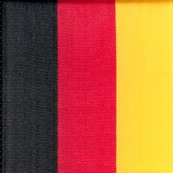 Nationalband Deutschland, schwarz-rot-gold, 125 mm, Super-Satin - super-satin-band, nationalband-super-satin-band