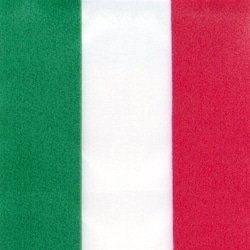 Nationalband Italien / Ungarn, grün-weiß-rot, 150 mm, Super-Satin - super-satin-band, nationalband-super-satin-band