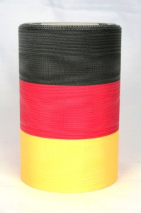 Deutschlandband für die Deko zum 'Tag der Deutschen Einheit' - nationalband