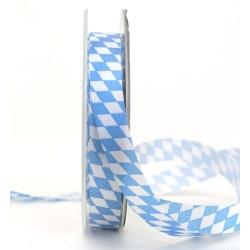 Schleifendekoband 15mm Bayern-Raute blau_weiss_250