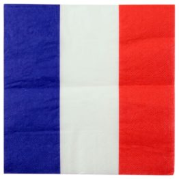 Serviette Tricolore, 33 x 33 cm, Pack m. 20 St. - nationalband