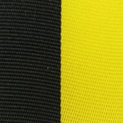 Vereinsband schwarz-gelb, 100 mm, Super-Satin - vereinsband-super-satin-band, super-satin-band