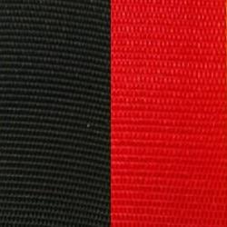 Vereinsband schwarz-rot, 75 mm - vereinsband