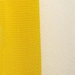 Vereinsband gelb-weiß, 25 mm - vereinsband